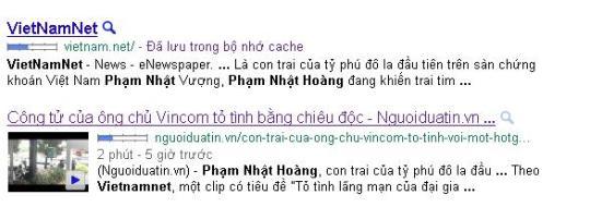 Bản cache của Vietnamnet và Nguoiduatin.vn trên Google. Nguoiduatin.vn có trích dẫn nguồn tin.